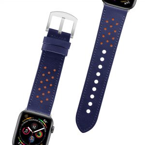 Leather Watchband 38/40 – Midnight Blue