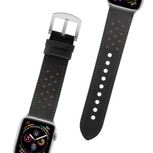 Leather Watchband 42/44 – Black