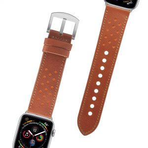 Leather Watchband 42/44 – Caramelo